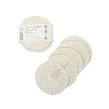 Organic Cotton Facial Pads - 5pk