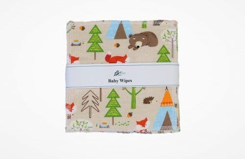 Reusable Baby Wipes - Woodland