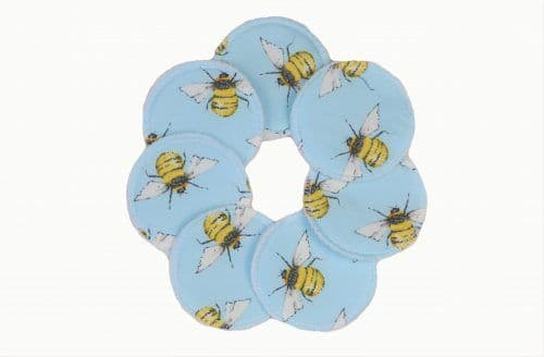 Reusable Fleece Face Pads - Blue Bee