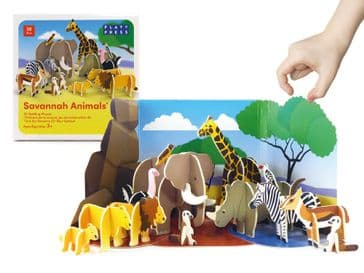 Savannah Animals Pop Out Play Set