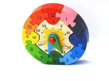 Teaching Clock Puzzle