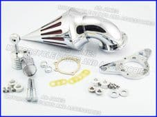 Air filter spiked air cleaner kit chrome Night Train Fat Boy EFI engine 226