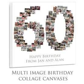 60 Age Birthday  Collage