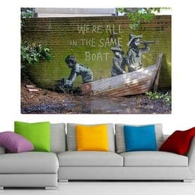 Banksy Canvas Were All in the Same Boat