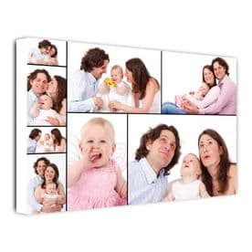 Eight Photo Collage Canvas