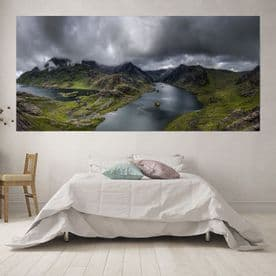 Panoramic Misty Mountain View