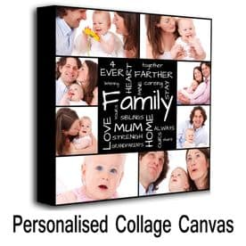 Personalised Square Collage Canvas