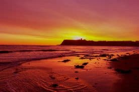 Scarborough Canvas Framed Wall Art - Red Sun Rise