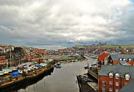Whitby Canvas Print - Over Cast Whitby