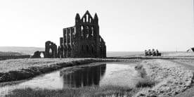 Whitby Canvas Print - Whitby Abbey Reflections