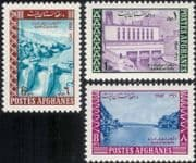 Afghanistan 1967 Dam/ Hydro-Electric/ Energy/ Power Station/ Buildings/ Architecture/ Engineering 3v set (n29557)