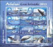 Aitutaki 2013 Humpback Whales/ Striped Dolphins/ Marine/ Animals /Nature/ Wildlife/ Boats/ Yachts/ Ships/ Transport 16v sht (n43881)