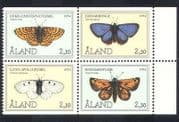 Aland 1994 Butterflies  /  Insects  /  Nature  /  Conservation  /  Butterfly 4v blk (b1795)