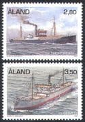 Aland 1997 Steam Freighters/ Ships/ Boats/ Nautical/ Trade/ Commerce/ Business/ Transport 2v set (n41591)
