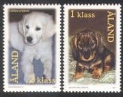 Aland 2001 Puppies  /  Dogs  /  Domestic Animals  /  Nature  /  Pets  /  Dachshund 2v set (n39639)