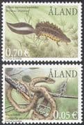Aland 2002 Endangered Animals/ Newts/ Snakes/ Reptiles/ Amphibian/ Nature 2v set (n42767)