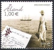 """Aland 2008 Europa/ """"The Letter""""/ Post/ Mail/ Sailing Ships/ Boats/ Nautical/ Transport 1v (n41588)"""