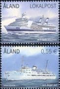 Aland 2012 Ferries/ Ferry/ Ships/ Boats/ Nautical/ Transport/ Business 2v set (af1045)