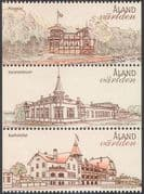 Aland 2012 Tourism/ Hotels/ House/ Buildings/ Architecture/ Heritage 3v set ex bklt stp (n42486)