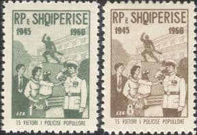 Albania 1960  People's Police 15th/ Law/ Order/ Policemen/ Uniforms  2v set  (n40089a)