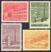 Albania 1963 Industry  /  Commerce  /  Buildings  /  Architecture  /  Refinery 4v set (n38525)
