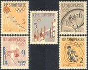 Albania 1963 Olympic Games/ Sports/ Cycling/ Volleyball/ Boxing/ Olympics/ Bikes/ Bicycles 5v set (n43124)
