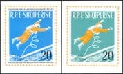 Albania 1965 Voskhod 2/ Leonov/ Space Walk/ Astronauts/ Cosmonauts/ People  2 x m/s imperforate (n43121)