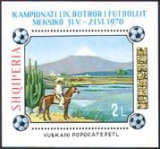 Albania 1970 Football World Cup/ Sports/ Games/ Mountains/ Horses/ Cactus/ Cacti/ Volcanoes/ Animals/ Nature 1v m/s (n30442)