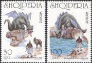 Albania 1997 Europa/ Dragon/ Horses/ Legends/ Myths/ Tales/ Animals/ Animation  2v set (b3031g)