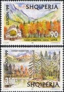 Albania 1999 Europa/ National Parks/ Mountains/ Trees/ Forest/ Nature/ Buildings 2v set (n46164)
