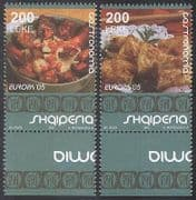 Albania 2005 Europa  /  Gastronomy  /  Food  /  Cooking 2v set (n35492)