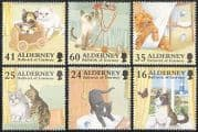 Alderney 1996 Cats  /  Butterfly  /  Pets  /  Domestic Animals  /  Nature 6v set (s3211)
