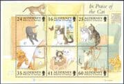Alderney 1996 Cats/ Butterfly/ Pets/ Domestic Animals/ Nature/ Lighthouse/ Animation 6v m/s (b5270)