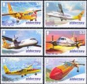 Alderney 2008 Aurigny Air Services 40th/ Planes/ Aircraft/ Aviation/ Transport 6v set (n26025)