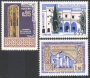 Algeria 1967 Musulman Art/ Museum/ Minaret/ Buildings/ Architecture 3v set (n41401)