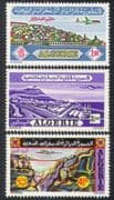 Algeria 1971 Airmail/ Air Mail/ Aircraft/ Planes/ Aviation/ Buildings/ Transport 3v set (n39275)