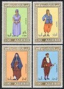 Algeria 1975 Costumes  /  Clothes  /  Dress  /  Textiles  /  Design  /  Art  /  People 4v set (n39526)