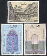 Algeria 1975 Palace  /  Buildings  /  Architecture  /  Mosaics  /  Art  /  Heritage 3v set (n39536)