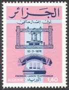 Algeria 1976 Telephone/ Inventions/ Science/ Technology/ Communications 1v (n41391)