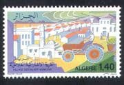 Algeria 1977 Agriculture  /  Tractor  /  Mosque  /  Village  /  Farming  /  Transport 1v (n39530)