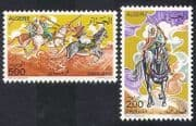 Algeria 1977 Cavaliers  /  Horses  /  Animals  /  Nature  /  Entertainment  /  Transport 2v (n39330)