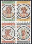 Algeria 1977 Mosaics  /  Art  /  Ceramics  /  Craft  /  Design  /  History  /  Heritage 4v set (n39534)