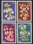 Algeria 1978 Fruit Tree Blossom  /  Flowers  /  Nature  /  Trees  /  Plants 4v set (n39337)