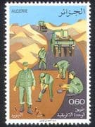 Algeria 1978 Road Building  /  Roads  /  Transport  /  Tractor  /  Motoring 1v (n39528)