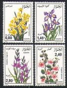Algeria 1986 Flowers  /  Plants  /  Nature  /  Iris 4v set (n32099)
