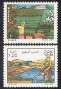 Algeria 1988 Agriculture  /  Farming  /  Irrigation  /  Cattle  /  Water  /  Crops  /  Fruit 2v (n39338)