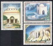 Algeria 1988 Spas  /  Water  /  Tourism  /  Buildings  /  Architecture  /  Health 3v set (n24476)