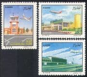 Algeria 1989 Airports  /  Aircraft  /  Planes  /  Aviation  /  Buildings  /  Transport 3v set n39273