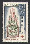 Andorra 1964 Red Cross  /  Health  /  Welfare  /  Statue  /  Art  /  Sculpture  /  Building 1v (n35747)