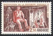 Andorra 1967 Social Security  /  Medical  /  Health  /  Welfare  /  Cooking  /  Fire 1v (n40981)
